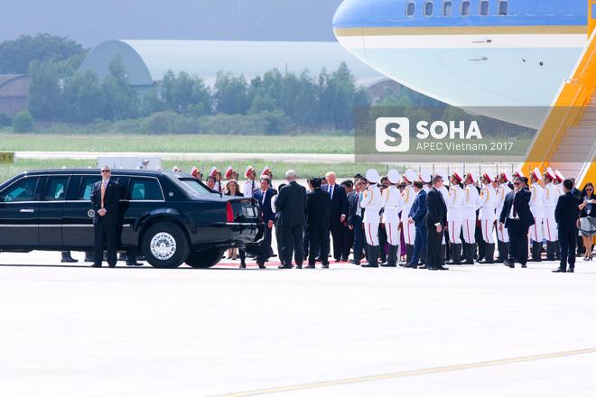 Toàn cảnh lễ đón Tổng thống Mỹ Donald Trump - Ảnh 7.