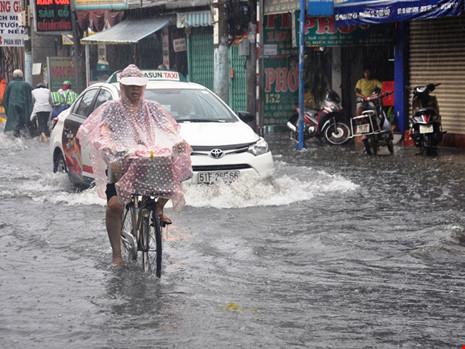 Mưa lớn, đường TP.HCM ngập nặng giữa mùa nóng - Ảnh 2.