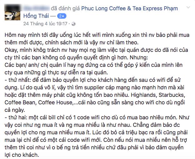 Quản lý trà sữa Phúc Long lên tiếng: Ngồi 11 tiếng vẫn đòi dùng wifi miễn phí là thiếu công bằng với khách đến sau - Ảnh 1.