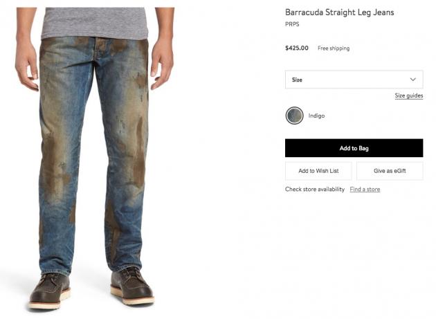 Mẫu quần jeans lấm lem bùn đất phong cách thợ hồ giá 9 triệu đồng - Ảnh 2.