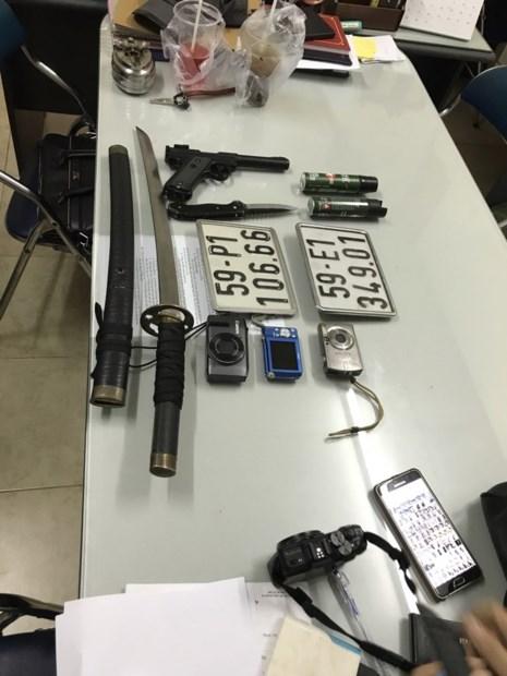 Nhóm cướp giật có vũ khí sa lưới đặc nhiệm - Ảnh 2.