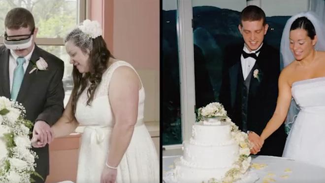 Công cụ thông minh này đã giúp người đàn ông khiếm thị được nhìn thấy người vợ của mình trong bộ váy cưới - Ảnh 1.