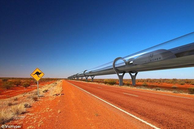 Tàu siêu tốc đi xuyên nước Úc hết 53 phút, đạt tốc độ chóng mặt 1.200 km/h - Ảnh 2.