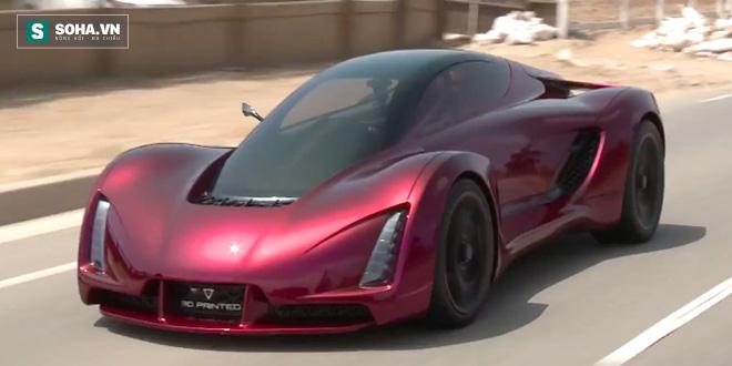Cận cảnh siêu xe 700 mã lực sinh ra từ... máy in 3D, dáng vóc như trong phim hành động - Ảnh 1.