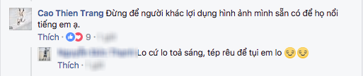 Bị tố nhắn tin gạ gẫm bạn trai Lại Thanh Hương và Chà Mi, phía Cao Thiên Trang lên tiếng đáp trả! - Ảnh 2.