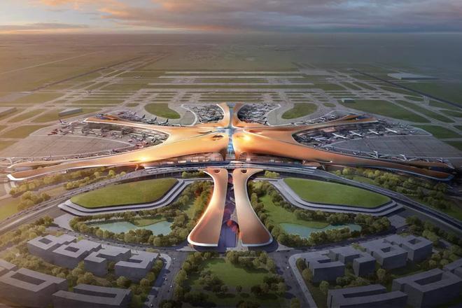 Toàn cảnh công trường xây dựng sân bay quốc tế lớn nhất thế giới, một trong những tác phẩm cuối cùng của nhà thiết kế đại tài Zaha Hadid - Ảnh 1.