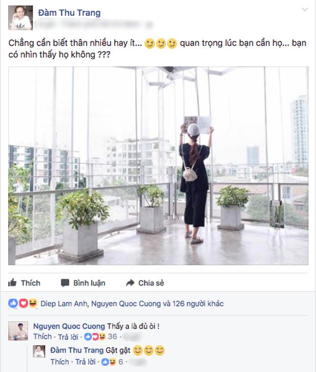 Hậu tin đồn hẹn hò, Cường Đô La đã công khai tán tỉnh Đàm Thu Trang? - Ảnh 2.
