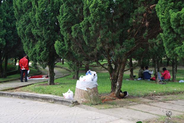 Nhắc nhở người bán hàng, cô lao công ở Đà Lạt nhận lại câu nói: Không xả rác thì lấy việc đâu các cô làm! - Ảnh 1.