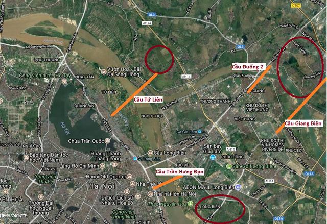 Cuộc đua xây cầu mới tỷ đô tại Hà Nội của VinGroup, SunGroup, Him Lam… quỹ đất 836ha đối ứng nằm ở đâu?  - Ảnh 1.