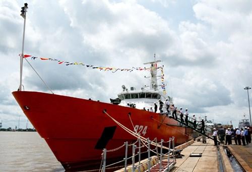 Nhà máy X51 bàn giao tàu tuần tra kết hợp tìm kiếm cứu nạn xa bờ - Ảnh 2.