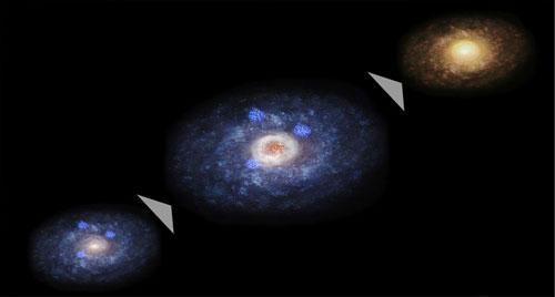Lý giải nguyên nhân các thiên hà trong vũ trụ có hình thù kỳ quái - Ảnh 1.