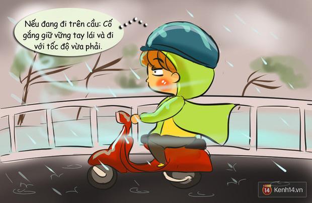 Nguyên tắc đi đường bạn buộc phải nhớ khi có gió giật mạnh ngày mưa bão - Ảnh 1.