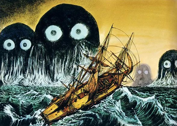 Thủy quái Umibozu: Nỗi ám ảnh đáng sợ bậc nhất trên đại dương Nhật Bản - Ảnh 5.
