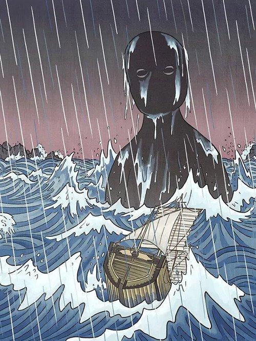 Thủy quái Umibozu: Nỗi ám ảnh đáng sợ bậc nhất trên đại dương Nhật Bản - Ảnh 3.
