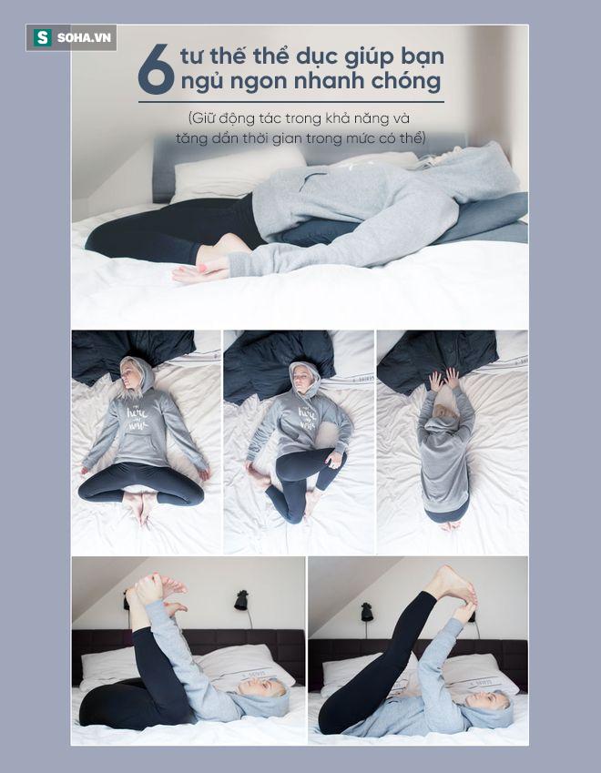 6 động tác thể dục giúp bạn dễ dàng đi vào giấc ngủ: Tuyệt chiêu dành cho người mất ngủ! - Ảnh 1.