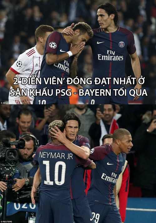 Ảnh chế: 'Vai diễn' quá đạt của cặp nghệ sĩ Neymar - Cavani - Ảnh 1.