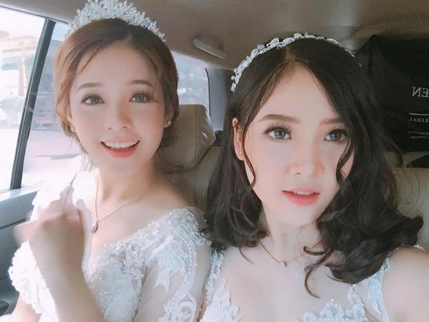 Đôi bạn thân sinh năm 1999 bị nhầm là cô dâu và phù dâu xinh nhất Facebook hôm nay - Ảnh 1.