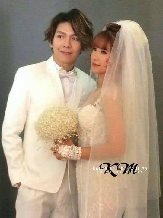 Khởi My e ấp, Kelvin Khánh để tóc dài lãng tử trong hậu trường chụp ảnh cưới - Ảnh 2.