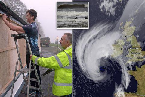 Siêu bão Ophelia xuất hiện, kích hoạt hiện tượng dị thường bao trùm kín thị trấn ở Anh - Ảnh 4.