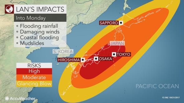Siêu bão Lan tấn công khiến Nhật phải đẩy nhanh bầu cử và hủy hơn 300 chuyến bay - Ảnh 1.