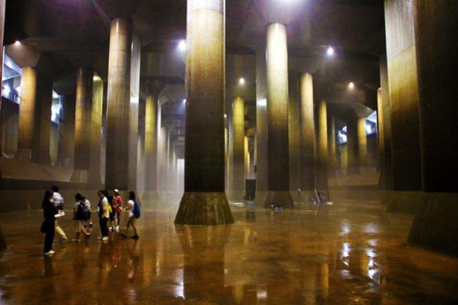 Giải mật cống ngầm lớn nhất thế giới ở Nhật, siêu bão mưa 3 ngày liền cũng không ngập - Ảnh 9.