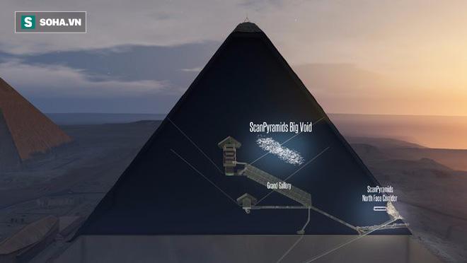 Khoảng trống bí ẩn được phát hiện bên trong Đại kim tự tháp 4.500 năm tuổi - Ảnh 2.