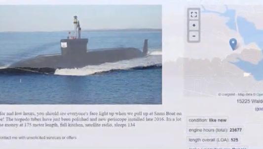 Tàu ngầm Nga được chào bán với giá 1,25 triệu USD trên... trang rao vặt ở Mỹ - Ảnh 1.