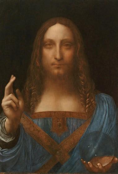Bức họa Đấng Cứu thế của Leonardo da Vinci được bán giá 450 triệu USD, đắt nhất mọi thời đại - Ảnh 1.
