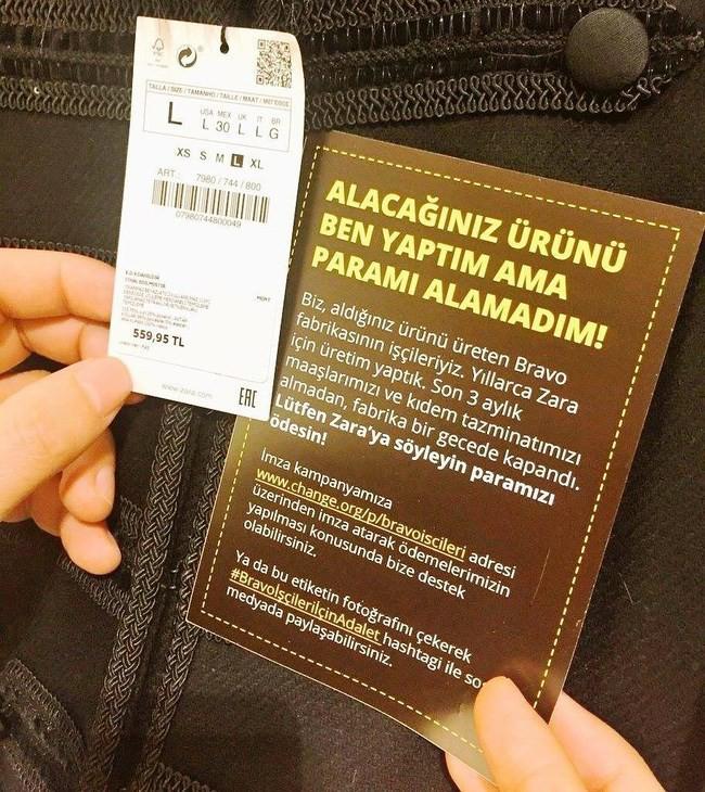 Sự thật đằng sau vụ Zara bị người lao động tố quỵt tiền lương, gửi lời kêu cứu trên nhãn quần áo - Ảnh 2.