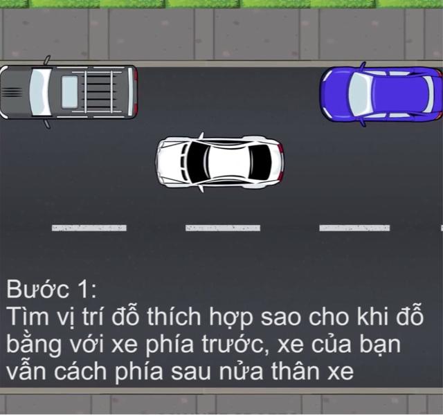 [Video] Hướng dẫn cách đỗ xe ghép ngang/ghép dọc cho tài non - Ảnh 2.