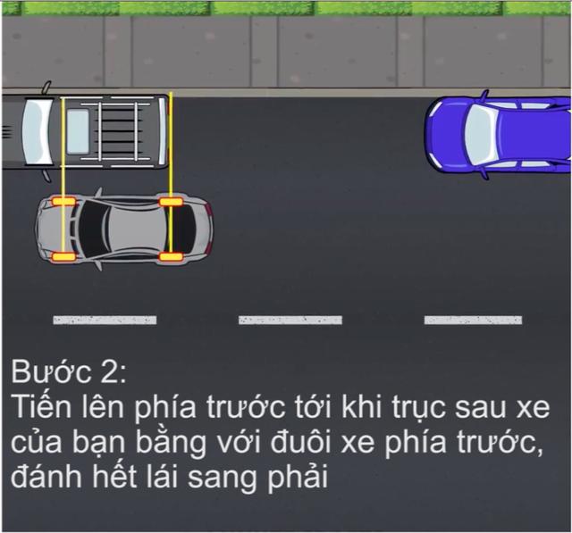 [Video] Hướng dẫn cách đỗ xe ghép ngang/ghép dọc cho tài non - Ảnh 3.