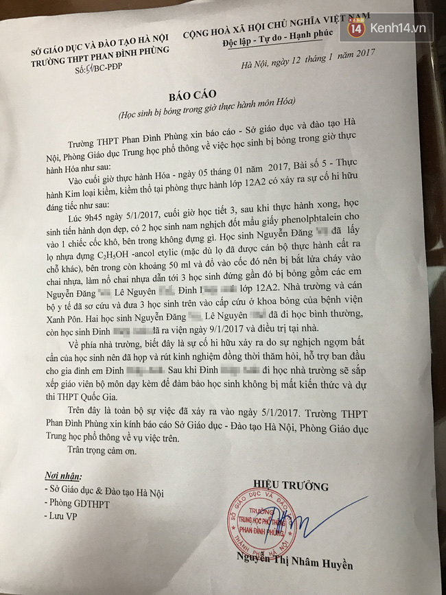 Hình ảnh nữ sinh THPT Phan Đình Phùng bị bỏng độ 3 khiến nhiều người xót xa - Ảnh 3.