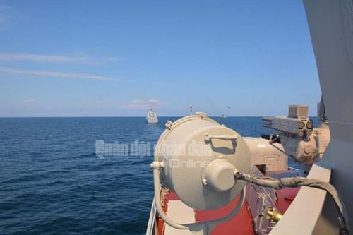 Tàu Hải quân Việt Nam tham gia diễn tập biển đa phương - Ảnh 3.