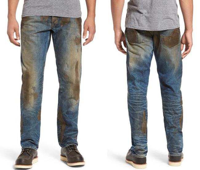 Mẫu quần jeans lấm lem bùn đất phong cách thợ hồ giá 9 triệu đồng - Ảnh 3.
