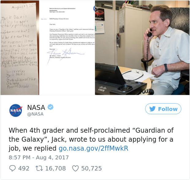 Bé trai 9 tuổi nộp đơn xin việc cho NASA, bất ngờ khi nhận được thư phản hồi từ chính giám đốc - Ảnh 3.