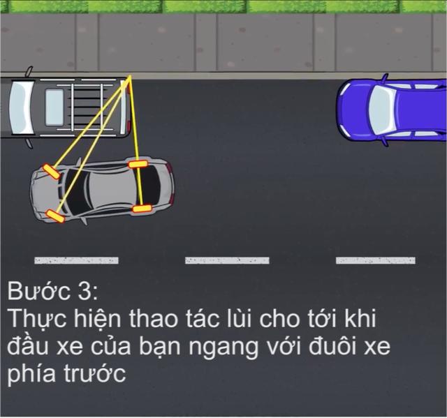 [Video] Hướng dẫn cách đỗ xe ghép ngang/ghép dọc cho tài non - Ảnh 4.