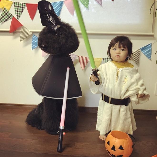Loạt ảnh hóa trang Halloween hoành tráng nhất mạng xã hội của bé gái Nhật và những người bạn thú cưng - Ảnh 21.