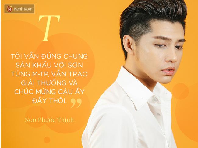 Noo Phước Thịnh: Tôi vẫn đứng chung sân khấu với Sơn Tùng, vẫn trao giải thưởng và chúc mừng cậu ấy đấy thôi! - Ảnh 4.