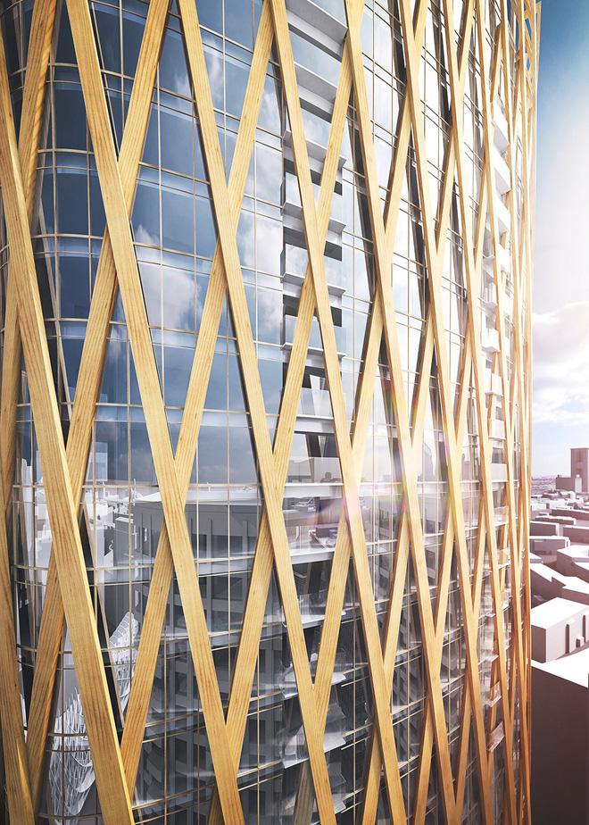 Không phải bê tông hay sắt thép, các tòa nhà chọc trời trong tương lai sẽ được xây dựng hoàn toàn từ... gỗ - Ảnh 2.