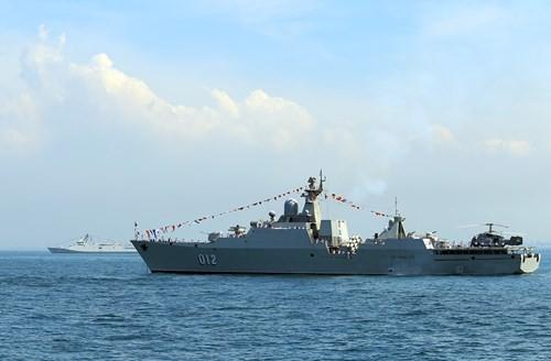 Tàu 012 - Lý Thái Tổ tham gia Duyệt binh tàu quốc tế 2017 - Ảnh 4.
