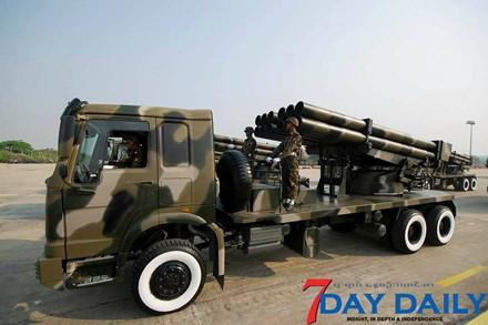 Quân đội Myanmar phô trương sức mạnh vũ khí trong cuộc duyệt binh - Ảnh 4.