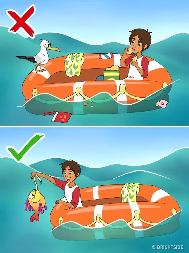 Làm gì để sống sót nếu đột nhiên bạn ở một mình giữa biển khơi? - Ảnh 4.