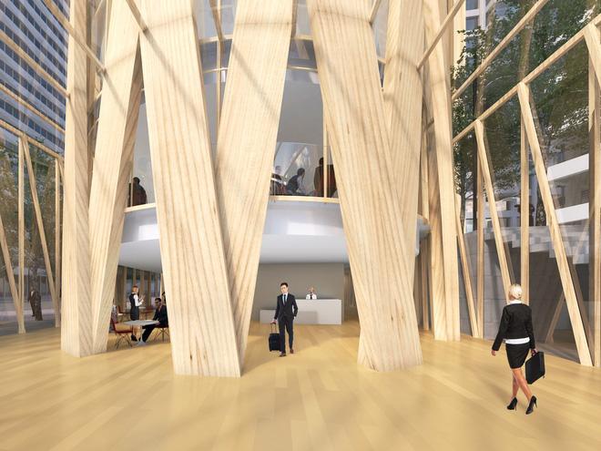 Không phải bê tông hay sắt thép, các tòa nhà chọc trời trong tương lai sẽ được xây dựng hoàn toàn từ... gỗ - Ảnh 3.