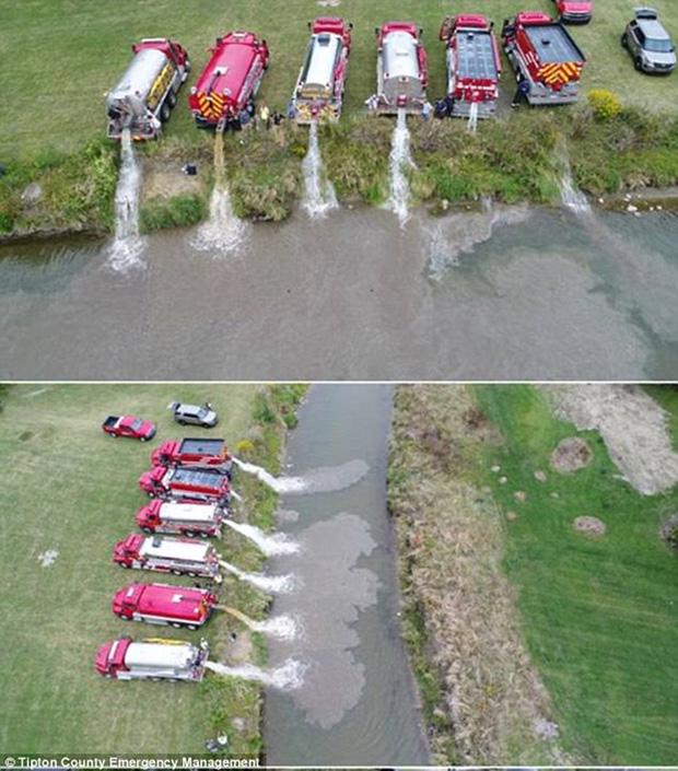 Mỹ: Dòng sông đột ngột chuyển thành màu trắng sữa khiến người dân không khỏi kinh ngạc - Ảnh 5.