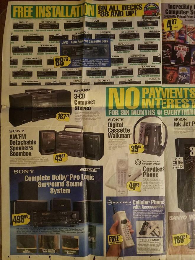 Nhìn lại hàng công nghệ đỉnh cao những năm 90 đây: máy tính RAM tận 1MB, TV 31 inch có jack A/V hiện đại - Ảnh 5.