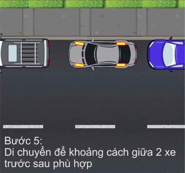 [Video] Hướng dẫn cách đỗ xe ghép ngang/ghép dọc cho tài non - Ảnh 6.