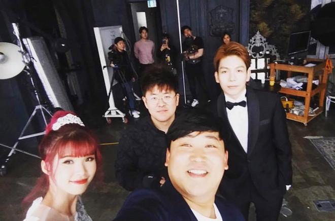Khởi My e ấp, Kelvin Khánh để tóc dài lãng tử trong hậu trường chụp ảnh cưới - Ảnh 6.
