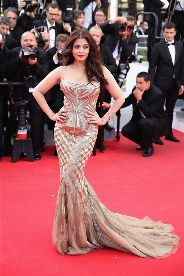 Hành trình 16 năm hóa nữ thần thảm đỏ Cannes của Hoa hậu Aishwarya Rai - Ảnh 29.