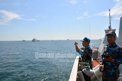Tàu Hải quân Việt Nam tham gia diễn tập biển đa phương - Ảnh 7.