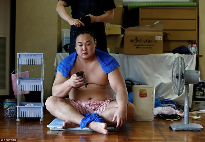 Vén màn cuộc sống của các đấu sĩ sumo tinh nhuệ tại Nhật Bản: Nạp 8.000 calo/ngày, phải thở bằng máy oxy khi ngủ - Ảnh 8.
